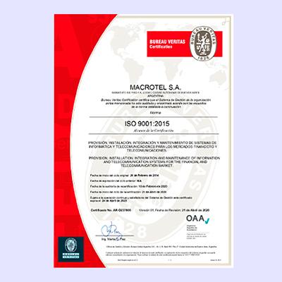 Bureau Veritas Certificación - Macrotel