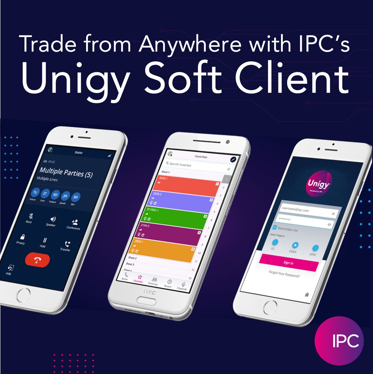 Unigy Soft Client IPC - Solución móvil para la operación remota del Trader